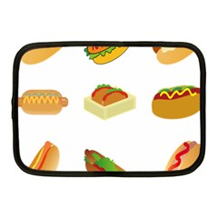 Hot Dog Buns Sauce Bread Netbook Case (medium)  by Mariart