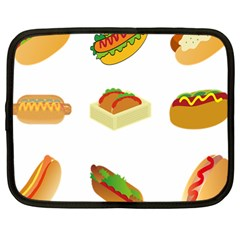 Hot Dog Buns Sauce Bread Netbook Case (large) by Mariart