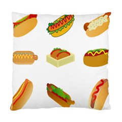 Hot Dog Buns Sauce Bread Standard Cushion Case (two Sides) by Mariart