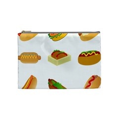 Hot Dog Buns Sauce Bread Cosmetic Bag (medium)  by Mariart