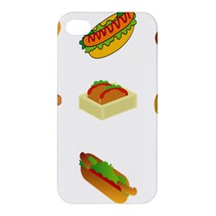 Hot Dog Buns Sauce Bread Apple Iphone 4/4s Hardshell Case by Mariart