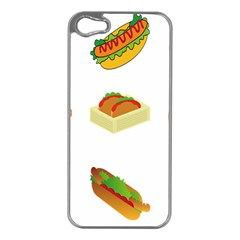 Hot Dog Buns Sauce Bread Apple Iphone 5 Case (silver) by Mariart