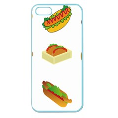 Hot Dog Buns Sauce Bread Apple Seamless Iphone 5 Case (color) by Mariart