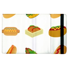 Hot Dog Buns Sauce Bread Apple Ipad 2 Flip Case by Mariart