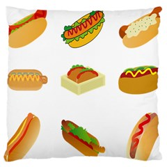Hot Dog Buns Sauce Bread Standard Flano Cushion Case (one Side) by Mariart