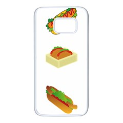 Hot Dog Buns Sauce Bread Samsung Galaxy S7 White Seamless Case by Mariart