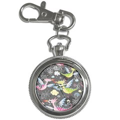 Dragonfly Animals Dragom Monster Fair Cloud Circle Polka Key Chain Watches by Mariart