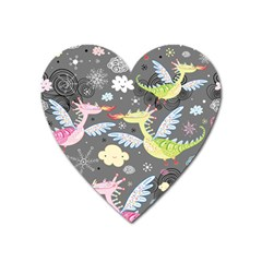 Dragonfly Animals Dragom Monster Fair Cloud Circle Polka Heart Magnet by Mariart