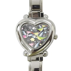 Dragonfly Animals Dragom Monster Fair Cloud Circle Polka Heart Italian Charm Watch by Mariart