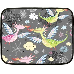 Dragonfly Animals Dragom Monster Fair Cloud Circle Polka Double Sided Fleece Blanket (mini)