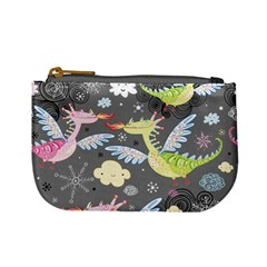 Dragonfly Animals Dragom Monster Fair Cloud Circle Polka Mini Coin Purses