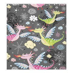 Dragonfly Animals Dragom Monster Fair Cloud Circle Polka Shower Curtain 66  X 72  (large)