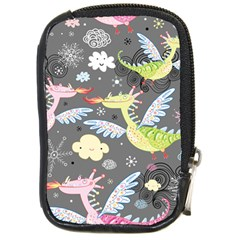 Dragonfly Animals Dragom Monster Fair Cloud Circle Polka Compact Camera Cases by Mariart