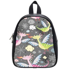 Dragonfly Animals Dragom Monster Fair Cloud Circle Polka School Bags (small)  by Mariart