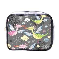 Dragonfly Animals Dragom Monster Fair Cloud Circle Polka Mini Toiletries Bags by Mariart