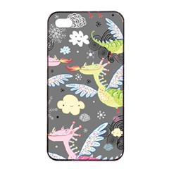 Dragonfly Animals Dragom Monster Fair Cloud Circle Polka Apple Iphone 4/4s Seamless Case (black) by Mariart