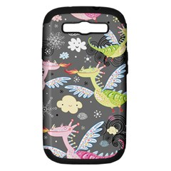 Dragonfly Animals Dragom Monster Fair Cloud Circle Polka Samsung Galaxy S Iii Hardshell Case (pc+silicone) by Mariart