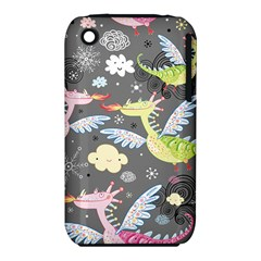 Dragonfly Animals Dragom Monster Fair Cloud Circle Polka Iphone 3s/3gs by Mariart