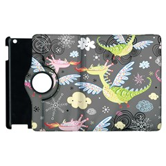 Dragonfly Animals Dragom Monster Fair Cloud Circle Polka Apple Ipad 3/4 Flip 360 Case by Mariart
