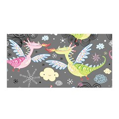 Dragonfly Animals Dragom Monster Fair Cloud Circle Polka Satin Wrap by Mariart
