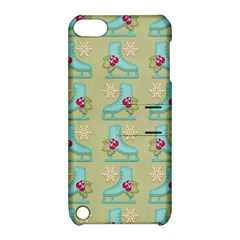 Ice Skates Background Christmas Apple Ipod Touch 5 Hardshell Case With Stand by Mariart