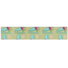 Ice Skates Background Christmas Flano Scarf (large) by Mariart