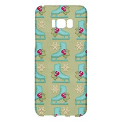 Ice Skates Background Christmas Samsung Galaxy S8 Plus Hardshell Case  by Mariart