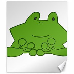 Illustrain Frog Animals Green Face Smile Canvas 8  X 10