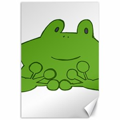 Illustrain Frog Animals Green Face Smile Canvas 24  X 36  by Mariart