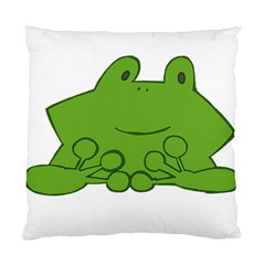 Illustrain Frog Animals Green Face Smile Standard Cushion Case (two Sides)