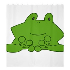 Illustrain Frog Animals Green Face Smile Shower Curtain 66  X 72  (large)  by Mariart
