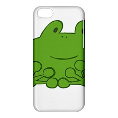 Illustrain Frog Animals Green Face Smile Apple Iphone 5c Hardshell Case by Mariart