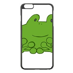 Illustrain Frog Animals Green Face Smile Apple Iphone 6 Plus/6s Plus Black Enamel Case by Mariart