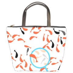 Illustrain Goldfish Fish Swim Pool Bucket Bags by Mariart