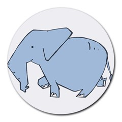 Illustrain Elephant Animals Round Mousepads by Mariart