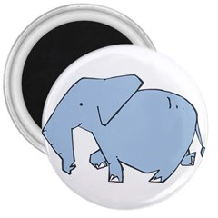 Illustrain Elephant Animals 3  Magnets by Mariart