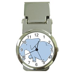 Illustrain Elephant Animals Money Clip Watches by Mariart
