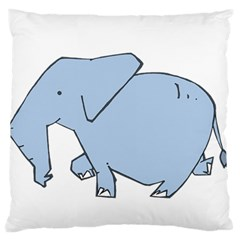 Illustrain Elephant Animals Standard Flano Cushion Case (one Side) by Mariart