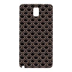 Scales2 Black Marble & Brown Colored Pencil Samsung Galaxy Note 3 N9005 Hardshell Back Case by trendistuff