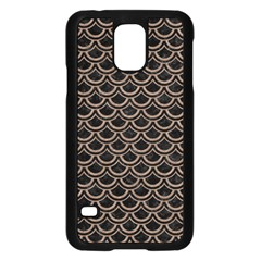 Scales2 Black Marble & Brown Colored Pencil Samsung Galaxy S5 Case (black) by trendistuff