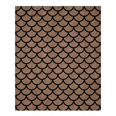 Scales1 Black Marble & Brown Colored Pencil (r) Shower Curtain 60  X 72  (medium) by trendistuff