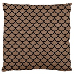 Scales1 Black Marble & Brown Colored Pencil (r) Standard Flano Cushion Case (one Side) by trendistuff