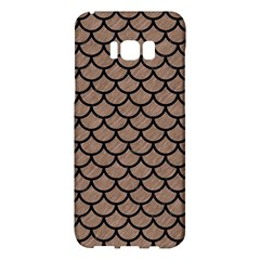 Scales1 Black Marble & Brown Colored Pencil (r) Samsung Galaxy S8 Plus Hardshell Case