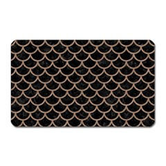 Scales1 Black Marble & Brown Colored Pencil Magnet (rectangular) by trendistuff