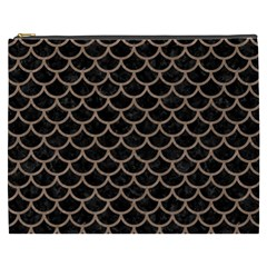 Scales1 Black Marble & Brown Colored Pencil Cosmetic Bag (xxxl) by trendistuff