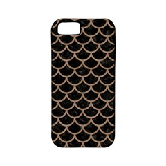Scales1 Black Marble & Brown Colored Pencil Apple Iphone 5 Classic Hardshell Case (pc+silicone) by trendistuff