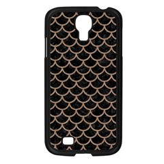 Scales1 Black Marble & Brown Colored Pencil Samsung Galaxy S4 I9500/ I9505 Case (black) by trendistuff