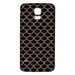 Scales1 Black Marble & Brown Colored Pencil Samsung Galaxy S5 Back Case (white) by trendistuff
