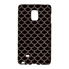 Scales1 Black Marble & Brown Colored Pencil Samsung Galaxy Note Edge Hardshell Case by trendistuff