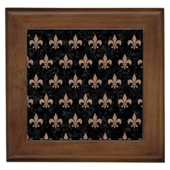 Royal1 Black Marble & Brown Colored Pencil (r) Framed Tile by trendistuff